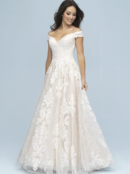 9619 Allure Bridals Modern Wedding Dress