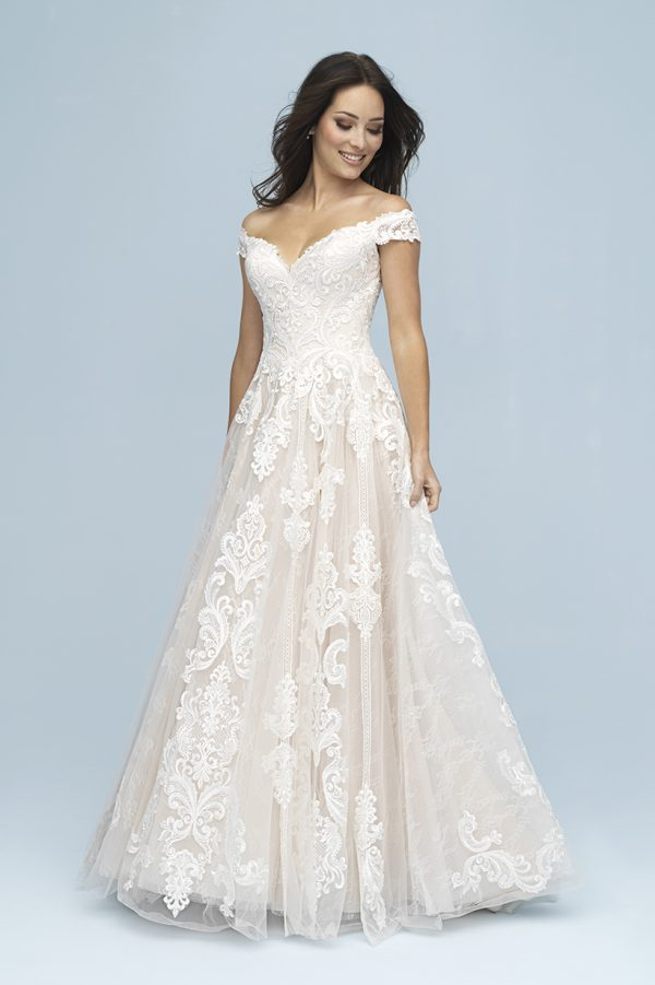 9619 Allure Bridals Modern Wedding Dress