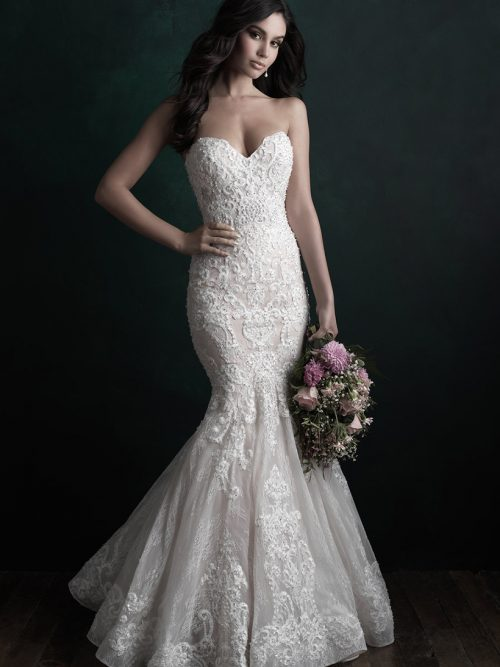 C510 Allure Couture Fit and Flare Bridal Gown