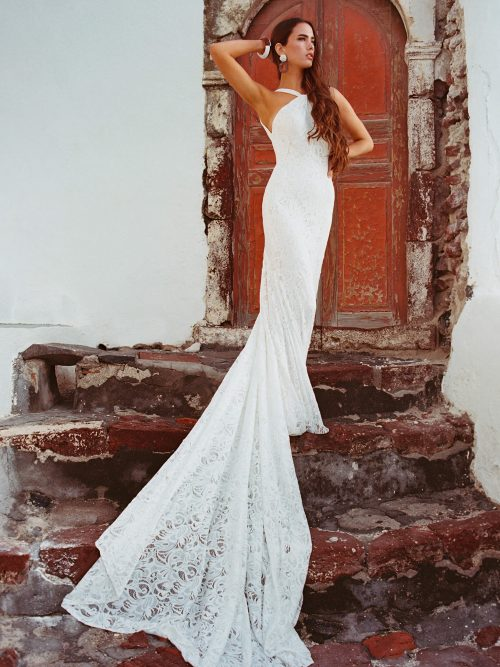 F165 Kennedy Wilderly Bride Sheath Wedding Dress