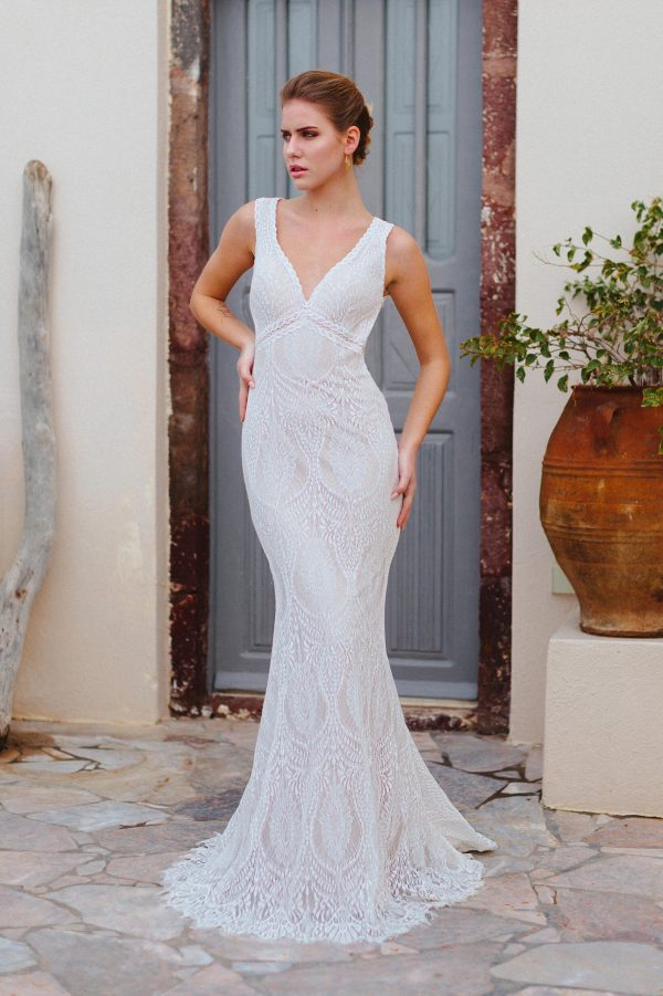 F171 Raven Wilderly Bride Bohemian Wedding Dress