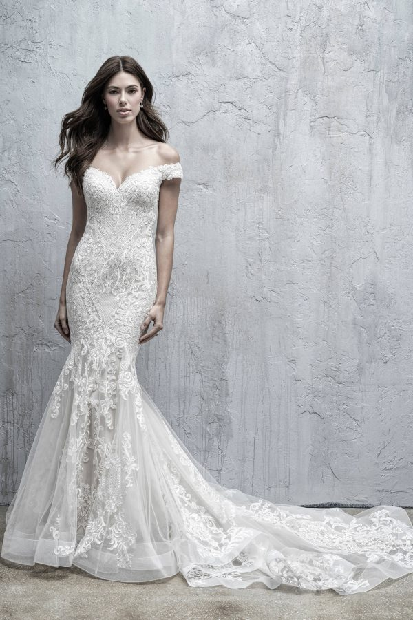 MJ557 Madison James Fit and Flare Wedding Dress