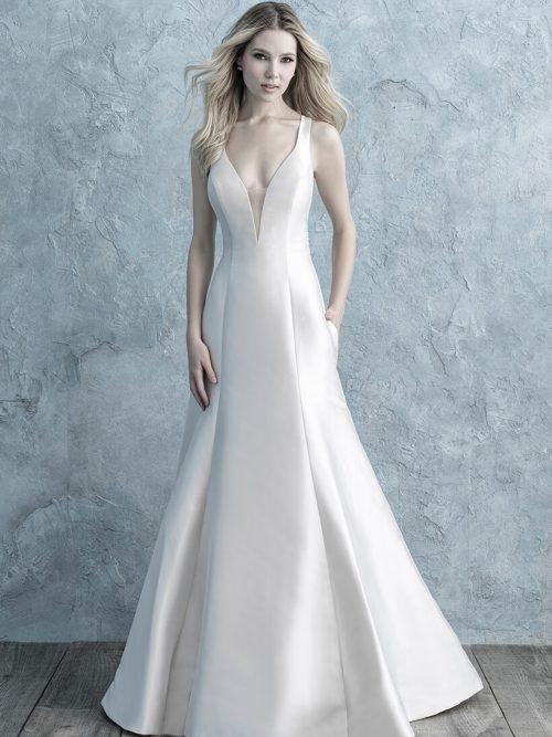 9662 Allure Bridals Sheath Wedding Dress