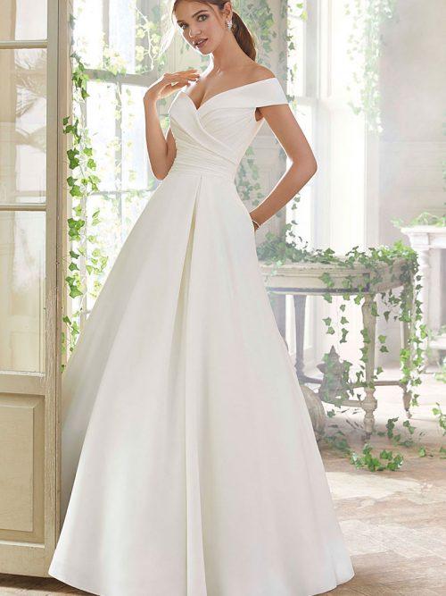 5712 Morilee Off the Shoulder WeddingDress