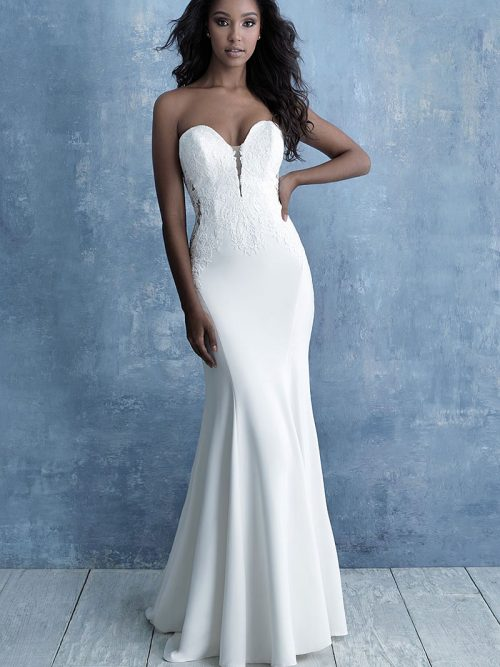 Sheath Wedding Dress Allure Bridals 9702