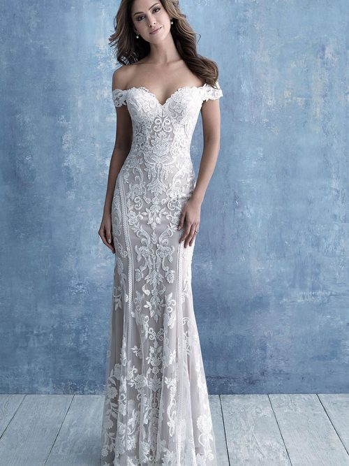 9704 Allure Bridals Slim Fitting Wedding-Dress
