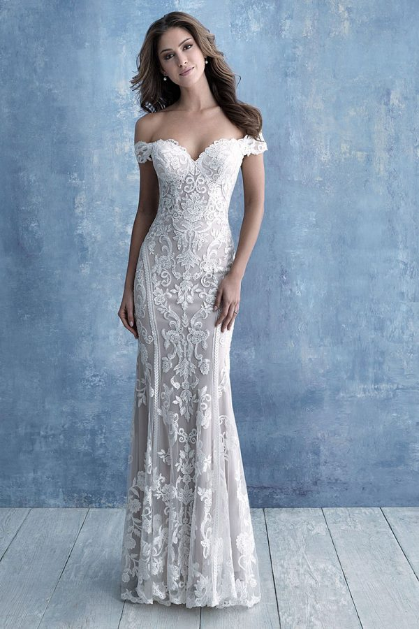 9704 Allure Bridals Slim Fitting Wedding-Dress
