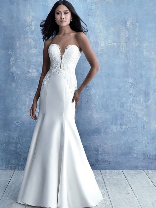 9717 Allure Bridals Stretch Mikado Wedding Dress