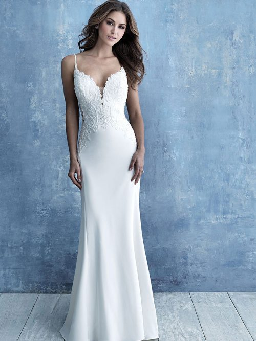 Allure Bridals 9723 Beaded Applique Wedding Dress