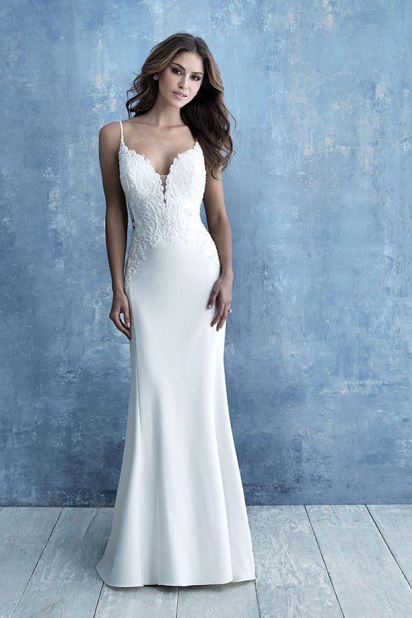 Allure Bridals 9723 Beaded Applique Wedding Dress