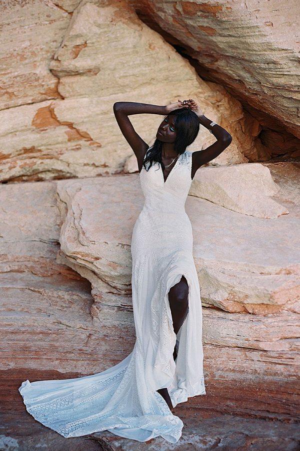 F181 Wilderly Bride Open Back Wedding Dress