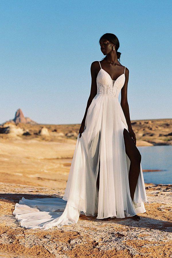 Strappy Wedding Dress Wilderley Bride F189