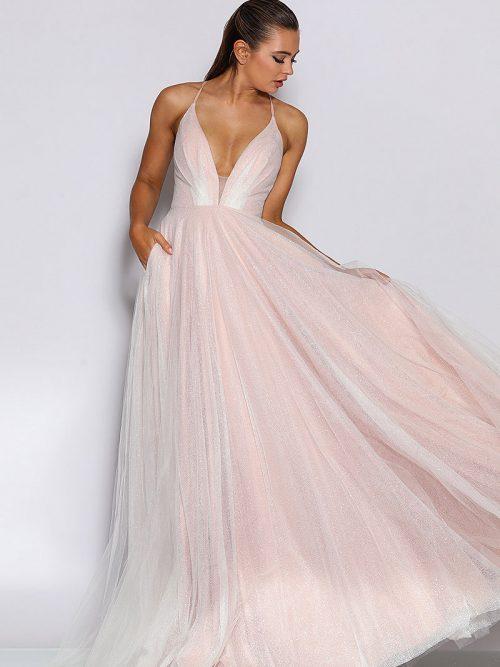 Jadore Pink bridesmaid Dress