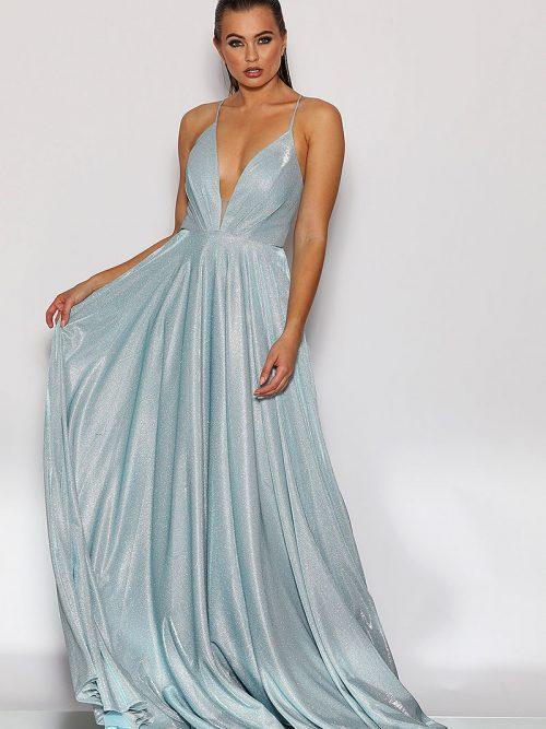 Jadoe baby Blue Bridesmaid Dress JX2106