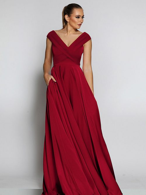 JX2116-ruby Jadore Bridesmaid Dress