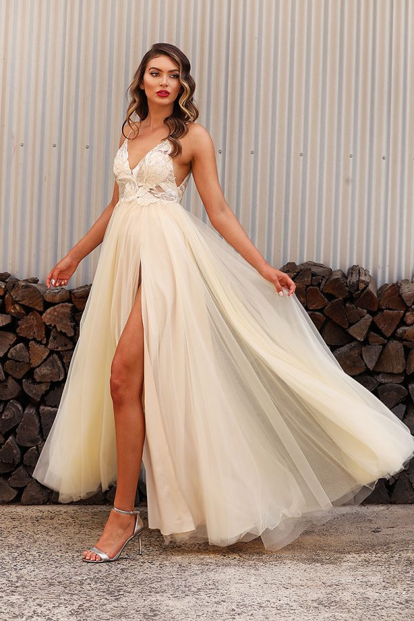 JX3004-Champagne Jadore Bridesmaid Dress