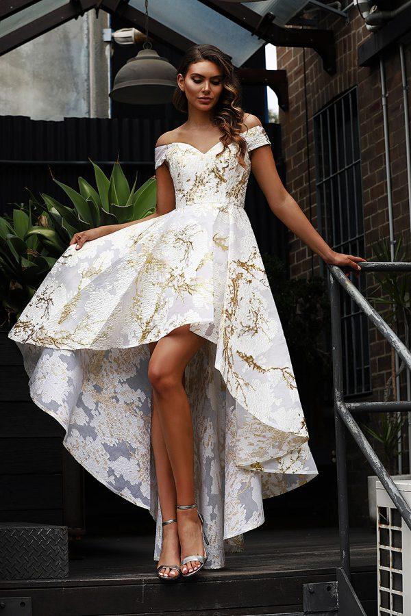 JX3066-GoldIvory Jadore Bridesmaid Dress