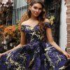 JX3066-Midnight Jadore Bridesmaid Dress