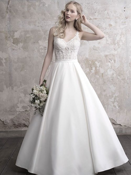 Strappy Mikado Ballgown MJ458F Madison James