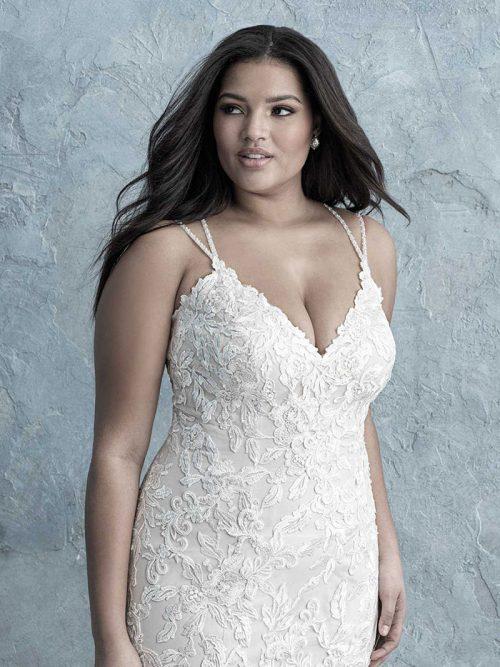 W454 Allure Women Vneck Wedding Dress