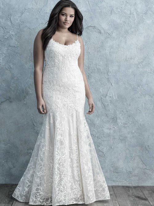 W456 -Allure-Women scooped neckline Wedding Dress