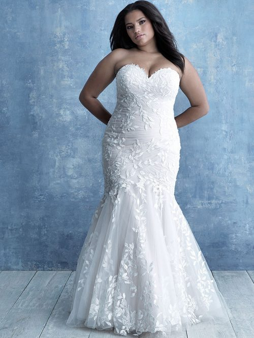 W462 Allure Women Fit and Flare Wedding Dress