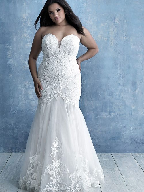 W466B Allure Women Classic Elegance Wedding Dress